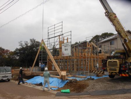 三島M様邸LVL材を使ったお家「上棟」です。